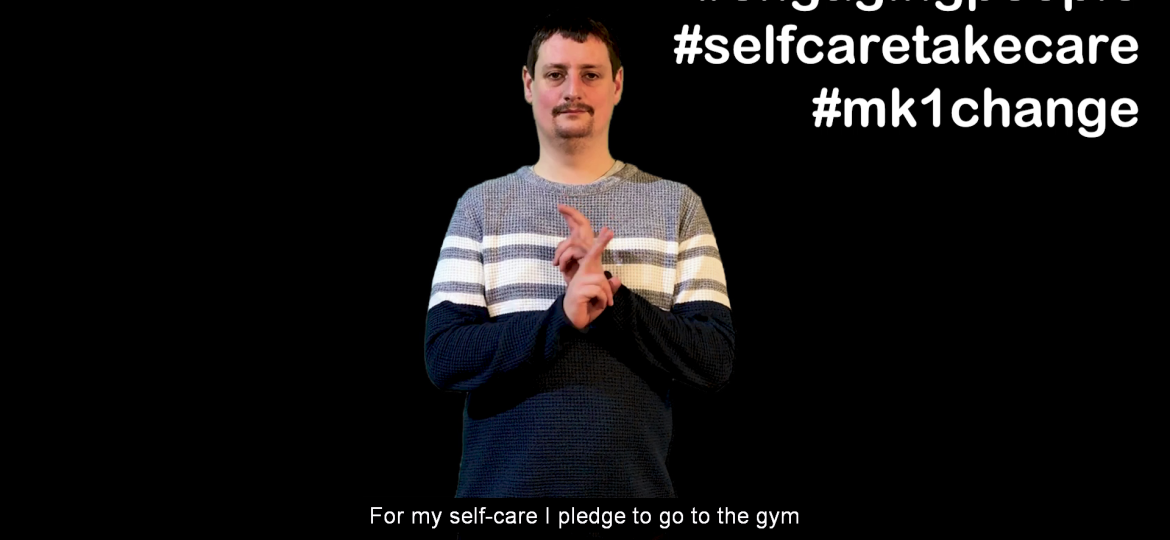 Deaf Group Self Care Pledges